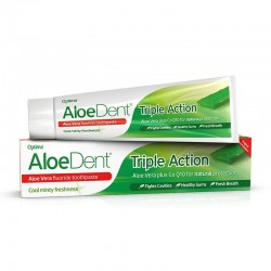 ALOEDENT TRIPLE ACTION TOOTHPASTE WITH FLUORIDE