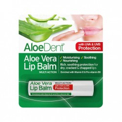 ALOEDENT ALOE VERA LIP BALM WITH TEA TREE AND LYSINE